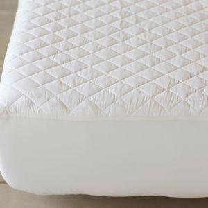 Coyuchi Organic Cotton Mattress Pad White, Queen