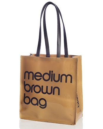 Bloomingdale S Medium Brown Bag 100