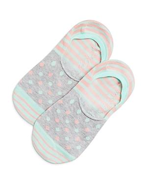 Happy Socks Pastel Stripe Dot Liner Socks