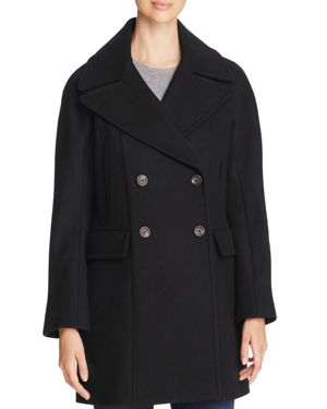 Vince Camuto Double-Breasted Button Front Coat