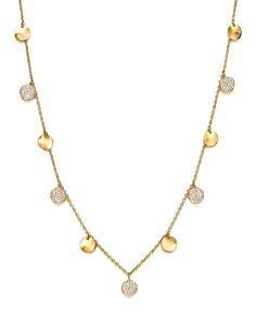 IPPOLITA - 18K Yellow Gold Glamazon® Stardust Paillette Necklace with Diamond Stations, 18""