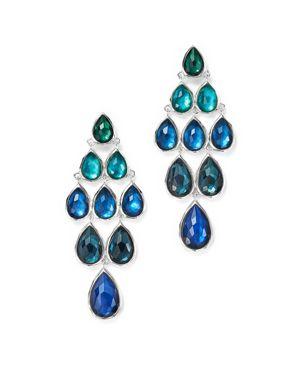 Ippolita Sterling Silver Rock Candy Wonderland Graduated Cascade Earrings in Merino