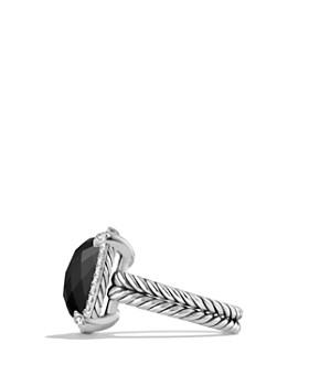 David Yurman - Châtelaine Pavé Bezel Ring with Black Onyx and Diamonds