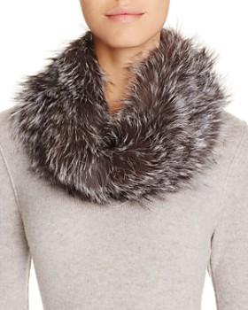 Surell - Fox Fur Infinity Loop Scarf