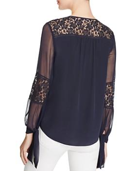 22364fa1c4f431 ... Rebecca Taylor - Sarah Lace Paneled Silk Blouse