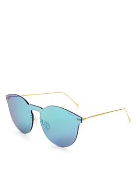 Illesteva - Women's Leonard II Mirrored Shield Sunglasses, 60mm