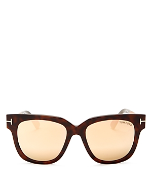Tom Ford Tracy Mirrored Square Sunglasses, 53mm