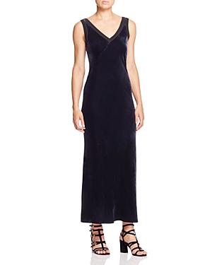 Dkny V-Neck Velvet Slip Dress