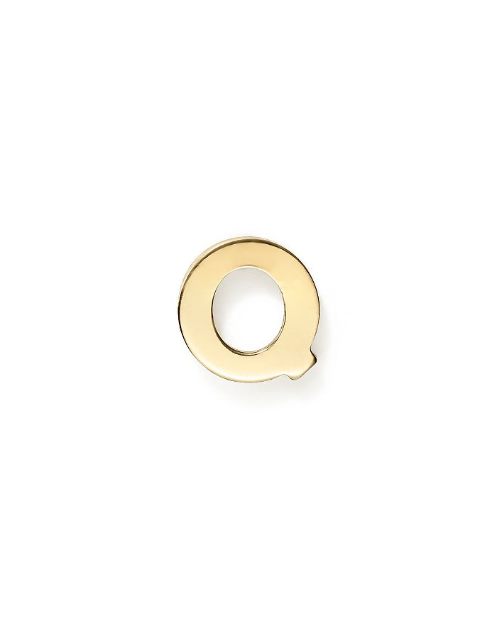ZoË Chicco 14k Yellow Gold Single Initial Stud Earring In Q