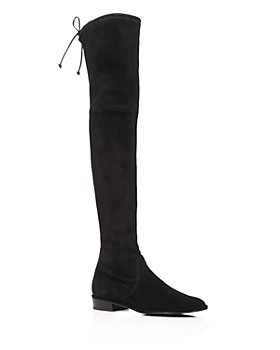 Stuart Weitzman - Women's Lowland Stretch Suede Over-the-Knee Boots