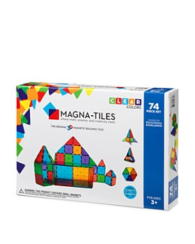 Magna-tiles - Clear Colors 74-Piece Set - Ages 3+
