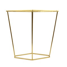 Bloomingville - Metal Diamond Shaped Side Table, Brushed Gold