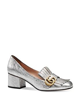 eb7a181bc76b Gucci - Women s Marmont Metallic Mid-Heel Pumps ...