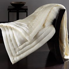 Donna Karan Silk Quilted Throw - Bloomingdale's_0