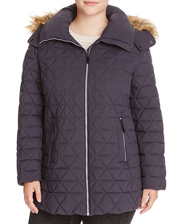Marc New York Plus - Tobi Faux Fur Trimmed Puffer Coat