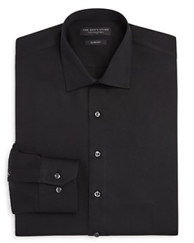 The Men's Store at Bloomingdale's - Solid Slim Fit Dress Shirt - 100% Exclusive