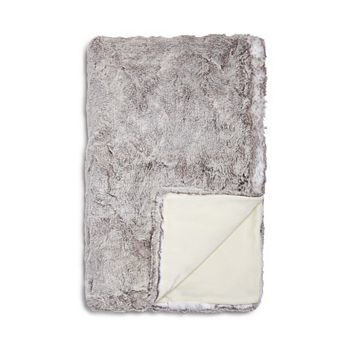Hudson Park Collection - Frosted Faux Fur Throw - 100% Exclusive