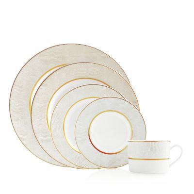 Sauvage White Deep Round Dish