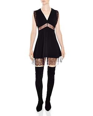Sandro Pretty Lace-Trimmed Dress