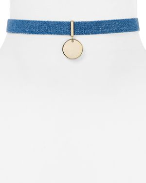 Jules Smith Topanga Denim Choker Necklace, 12