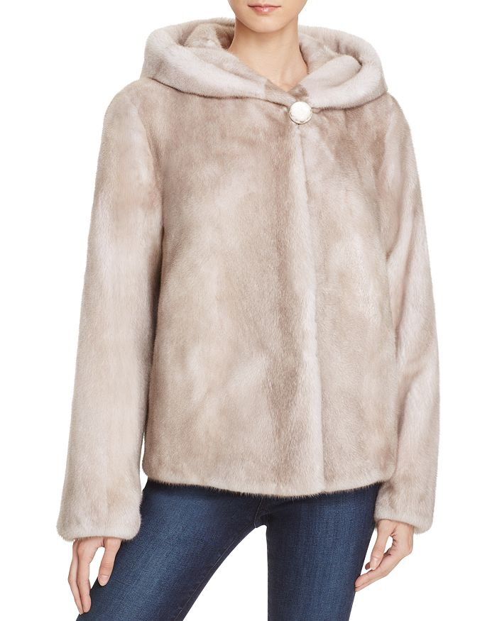 Maximilian Furs - Merhym Hooded Mink Coat