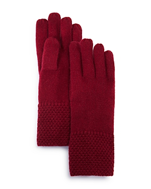 C by Bloomingdale's Waffle Knit Cashmere Gloves - 100% Exclusive