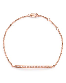 Bloomingdale's - Diamond Bar Bracelet in 14K Rose Gold, .25 ct. t.w. - 100% Exclusive