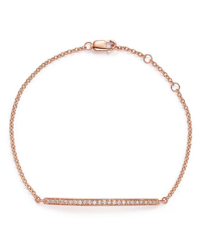 Bloomingdale's - Diamond Bar Bracelet in 14K Rose Gold, .25 ct. t.w.- 100% Exclusive