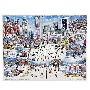 Michael Storrings Snowfall in Central Park Print, 11 x 14