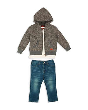 7 For All Mankind Boys' Hoodie, Tee & Standard Denim Jeans Set - Sizes 2T-4T