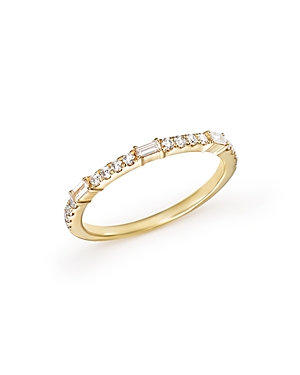 Diamond Round and Baguette Stackable Band in 14K Yellow Gold, .30 ct. t.w. - 100% Exclusive