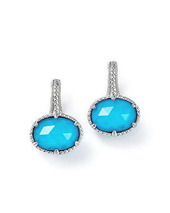34931013e Judith Ripka Sterling Silver Eclipse Turquoise Doublet Earrings ...