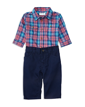 Ralph Lauren Childrenswear Boys' Twill Plaid Shirt & Pants Set - Baby