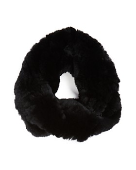 Surell - Twisted Rabbit Fur Loop Scarf
