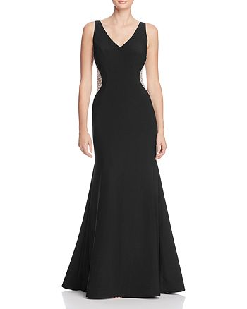 Avery G - Embellished Side Gown