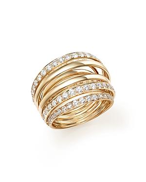 Diamond Multi Row Ring in 14K Yellow Gold, 2.0 ct. t.w. - 100% Exclusive
