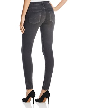 AG - Farrah High Rise Skinny Jeans in Grey Mist