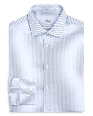 Armani Collezioni Stripe Regular Fit Dress Shirt
