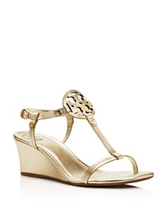 Tory Burch - Women's Miller T Strap Wedge Sandals
