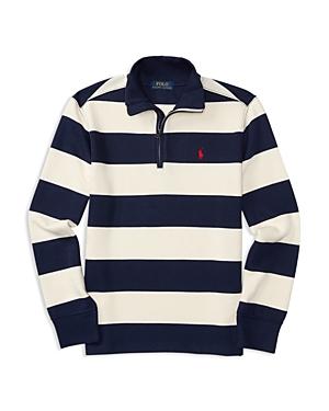 Ralph Lauren Childrenswear Boys' French Rib Half Zip Pullover - Sizes S-xl