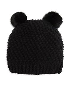 Surell - Girls' Double Pom Hat