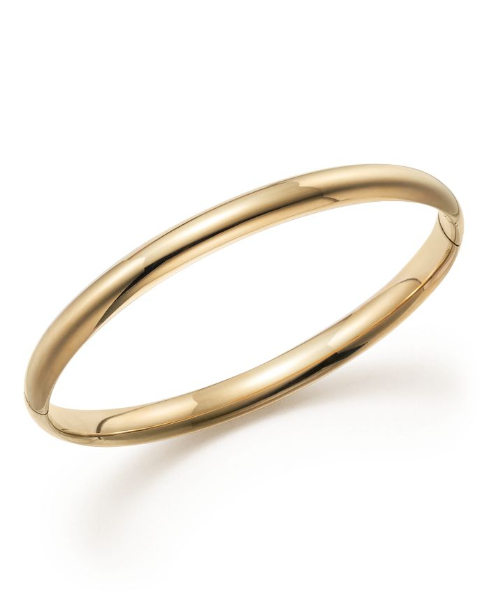 Bloomingdale's 14K Yellow Gold Hinged Bangle - 100% Exclusive  | Bloomingdale's