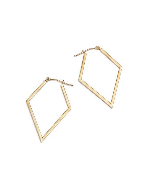 Bloomingdale's - 14K Yellow Rhombus Hoop Earrings  - 100% Exclusive
