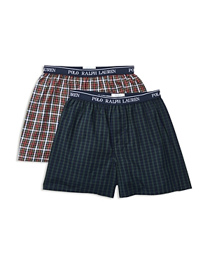 Ralph Lauren Childrenswear Boys Woven Boxers 2 Pack  Sizes Sxl