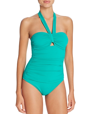Lauren Ralph Lauren Beach Halter One Piece Swimsuit