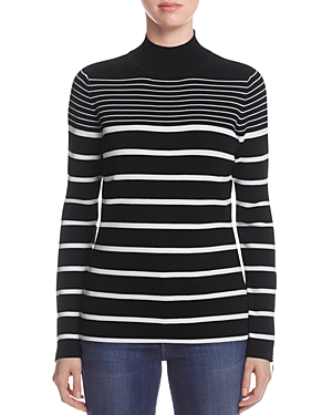 Marled Striped Funnel Neck Sweater - 100% Exclusive