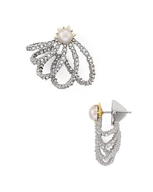 Alexis Bittar Pave Lace Orbiting Stud Drop Earrings