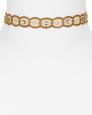 Chan Luu Beaded Lace Choker Necklace, 11