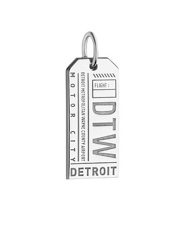 Jet Set Candy - Detroit, Michigan DTW Luggage Tag Charm