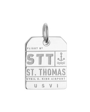 Jet Set Candy St. Thomas, U.s. Virgin Islands Stt Luggage Tag Charm